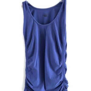 Athleta Athletic Tank Top Breathe Ruched Sides